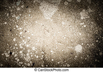 Abstract splash of white color on cement background...