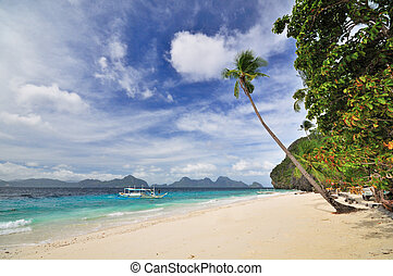 Paradise Beach Landscape - Paradise Bounty Beach with...
