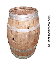Barrel - Traditional wooden barrel for wine storage,...