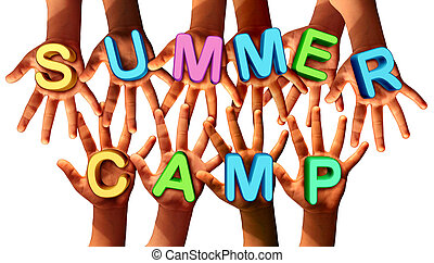 Summer Camp Kids - Summer camp kids as multiethnic school...