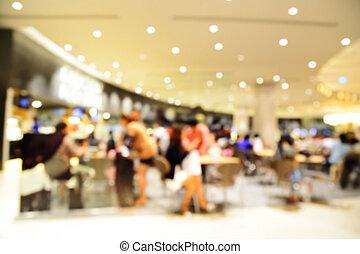 Blur or Defocus image of People Dinner in Restaurant or Food...