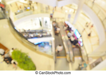 Blur or Defocus image of People Shopping in Department Store...