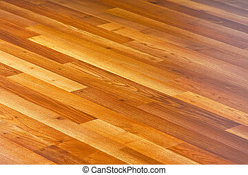 Laminate - Diagonal lines of laminated hardwood parquet...