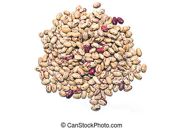 Cranberry beans isolated on white