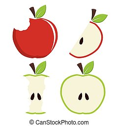 Fruits design. - Fruit design over white background, vector...