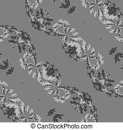 Abstract gray fractal pattern - Abstract gray floral bias...