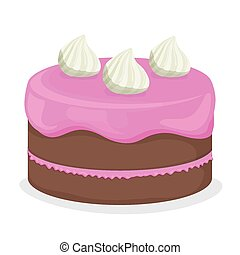 Cake design. - Cake design over white background, vector...