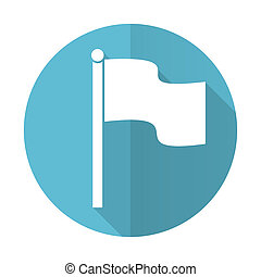 flag blue flat icon