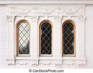 Architecture and windows of renaissance style classical...