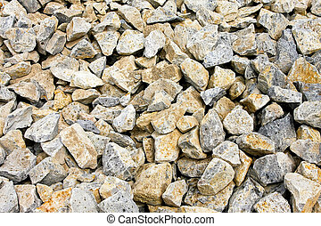 Stones material - Bunch of crushed stones rocks construction...