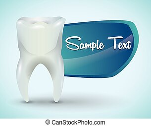 Dental design,vector illustration. - Dental design over blue...