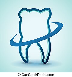 Dental design,vector illustration - Dental design over blue...