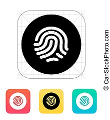 Thumbprint scanner icon. Vector illustration.
