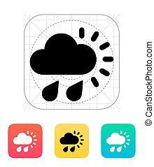Downpour weather icon Vector illustration