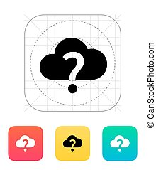 Unknown weather icon Vector illustration