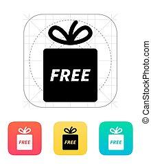 Free gift icon.