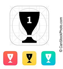 Trophy cup flat vector icon - Trophy cup. Flat vector icon.