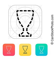 Trophy cup silhouette icon. Flat vector icon.