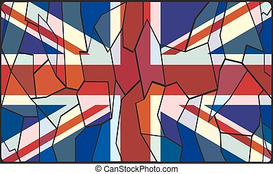 United Kingdom Stained Glass Window - A UK stained glass...