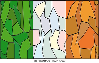 Ireland Flag Stained Glass Window - An Ireland flag design...