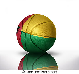 guinea bissau basketball - basketball ball with the national...