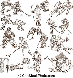 Ice Hockey - Hand drawn pack - ICE HOCKEY - Collection of an...