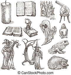 Halloween, Monsters, Magic - An hand drawn collection