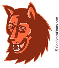 wolf-wild-dog-head - vector illustration of a wolf wild dog...