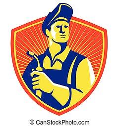 welder-visor-up-front-shield - Illustration of a welder...