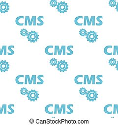Cms seamless pattern - Cms white and blue seamless pattern...