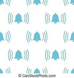 Alarmclock seamless pattern - Alarmclock white and blue...