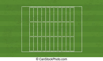 Football field, Video animation - Football Field and ball,...