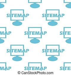 Sitemap seamless pattern - Sitemap white and blue seamless...