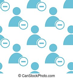 Remove user seamless pattern - Remove user white and blue...