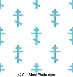 Orthodoxy seamless pattern - Orthodoxy white and blue...