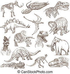 Dinosaurs - Hand drawn pack - From series: DINOSAURS -...