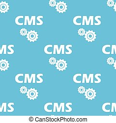 Cms seamless pattern - Cms blue with white seamless pattern...