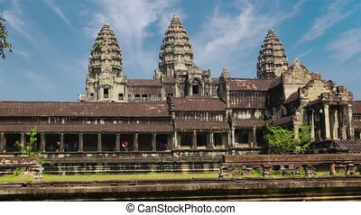 Left to Right Flyby of Angkor Wat in Time-Lapse - FullHD...