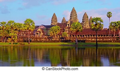 Angkor Wat from across the Mote in Time-Lapse - Video 1080p...