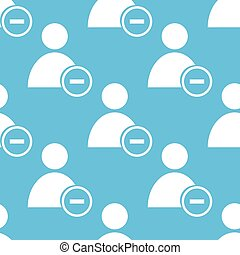 Remove user seamless pattern - Remove user blue with white...