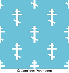 Orthodoxy seamless pattern - Orthodoxy blue with white...
