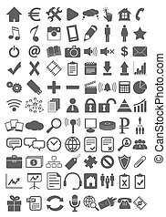 Webdesign flat icons set - Webdesign flat black set isolated...