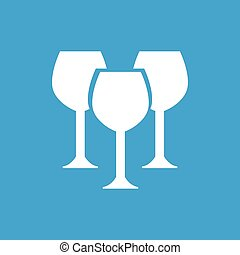 Stemware white icon - Stemware web white icon isolated on a...