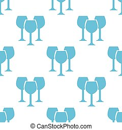 Stemware seamless pattern - Stemware white and blue seamless...