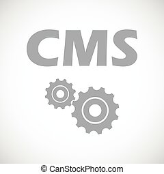 Cms black icon - Cms web black icon on a white background....