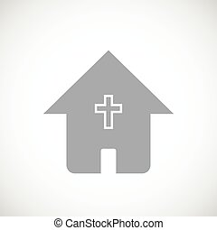 Protestant church black icon - Protestant church web black...
