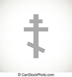 Orthodoxy black icon - Orthodoxy web black icon on a white...