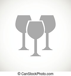 Stemware black icon - Stemware web black icon on a white...