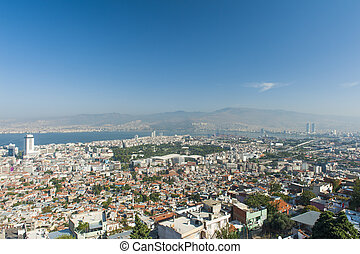 Izmir - City of Izmir seen from the hill above, Turkey