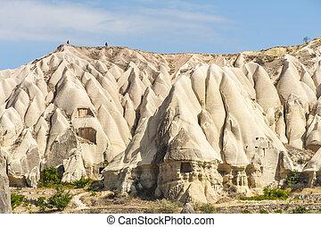 Cappadocia - Vivid rock formations from above in Cappadocia,...